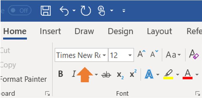 Manuscript Format: Font Change